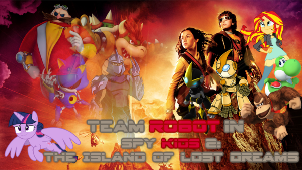 Team Robot In Spy Kids 2 The Island of Lost Dreams Poster