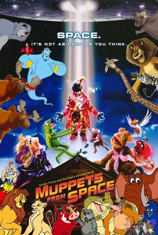 File:Simba Timon and Pumbaa's adventures of Muppets from Space Poster.jpg