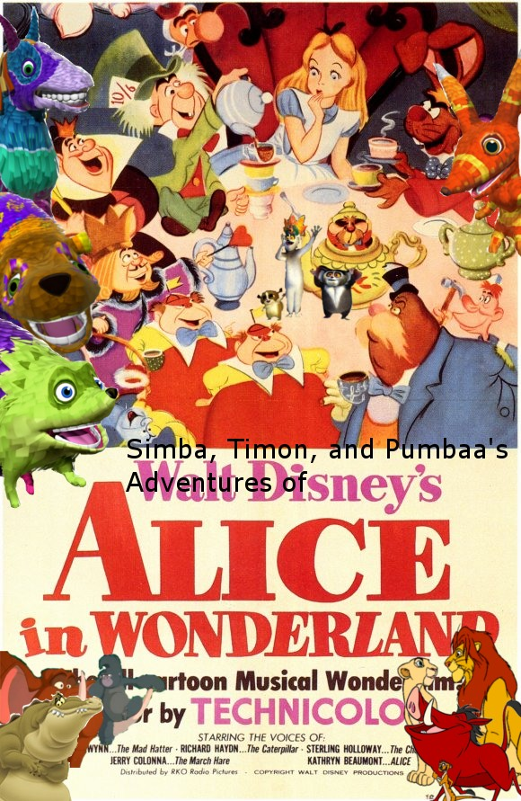 Simba, Timon, and Pumbaa's Adventures of Alice in Wonderland poster