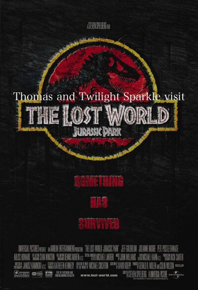 Thomas and Twilight Sparkle visit The Lost World- Jurassic Park
