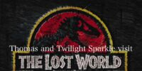 Thomas and Twilight Sparkle visit The Lost World: Jurassic Park