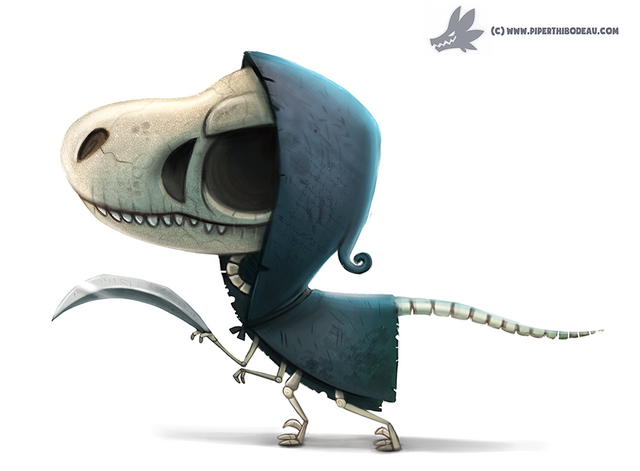File:Daily paint 1074 velocireaper by cryptid creations-d9eyl62.png