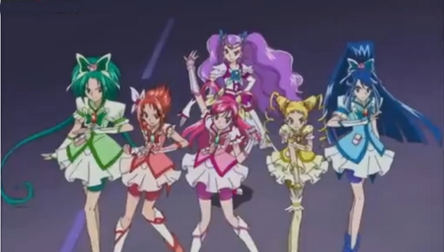 File:The Precure 5 team.png