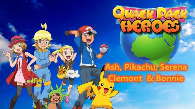 File:3. Ash, Pikachu, Serena, Clemont & Bonnie.png