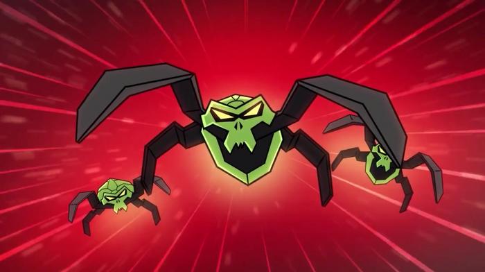 Green Skull Spiders Animation