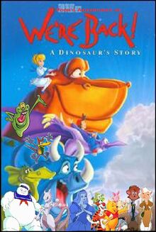 Pooh's Adventures of We're Back A Dinosaur's Story Poster (Version 2)