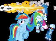 Rainbow dash and rainbow dash by hampshireukbrony-d6m0t1y