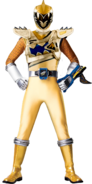 Dino Charge Gold Ranger in Dino Drive