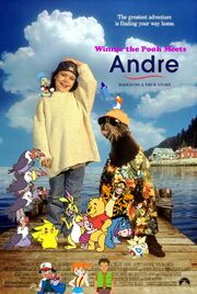 Winnie the Pooh Meets Andre Poster