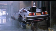 DeLorean time machine flying