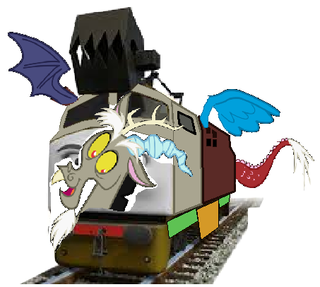 File:MLP Discord as a Thomas Character.png