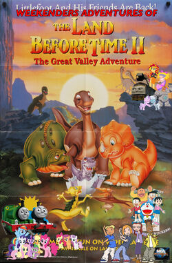 Weekenders Adventures of The Land Before Time II- The Great Valley Adventure Poster (Remake)