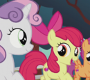 The Cutie Mark Crusaders (Apple Bloom, Sweetie Belle and Scootaloo)