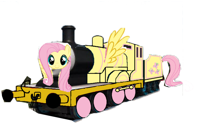 File:MLP Fluttershy as a Thomas character.png