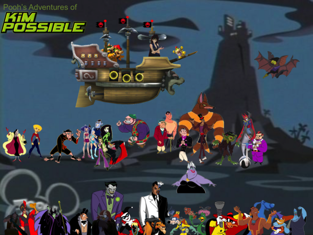 File:Pooh's Adventures of Kim Possible Villains Poster 1.png