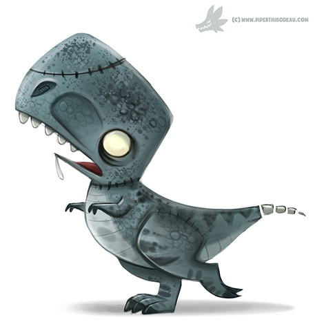 File:Daily paint 1061 zombie t rex by cryptid creations-d9dgj2b.png
