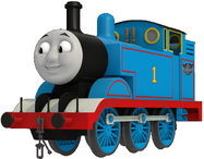 Thomas with the Autobots logo