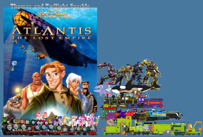 Thomas and Twilight Find Atlantis The Lost Empire poster