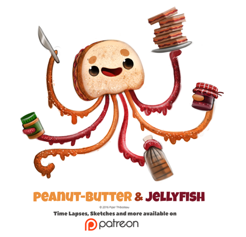 File:Daily 1348 peanut butter and jellyfish by cryptid creations-dac4v8e.png