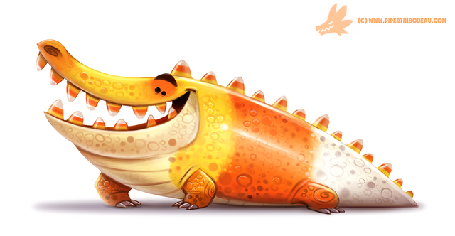 File:Daily paint 1062 crococorn by cryptid creations-d9dj74y.png