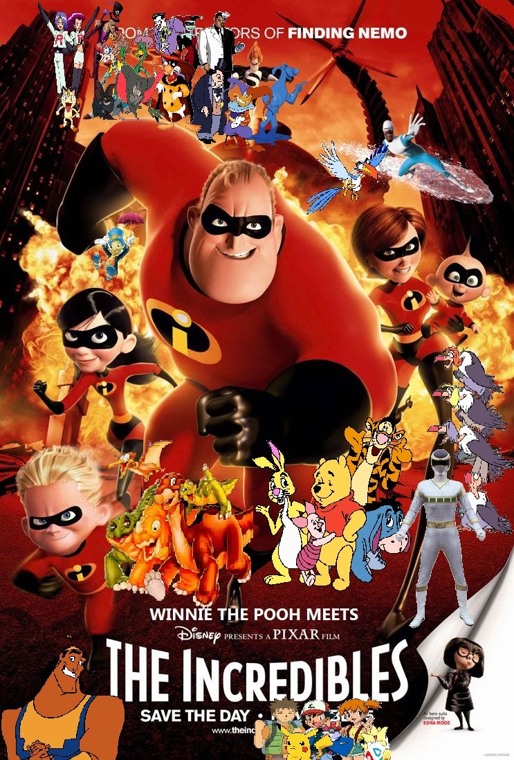 Image Winnie The Pooh Meets The Incredibles Poster Jpg
