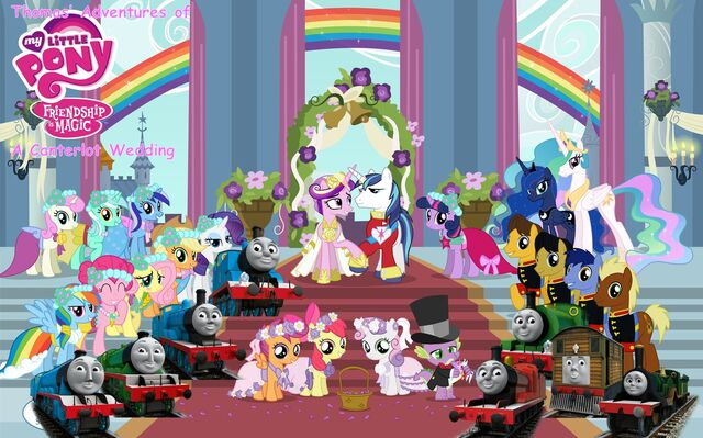 File:Thomas' Adventures of My Little Pony Friendship is Magic - A Canterlot Wedding Poster.jpg