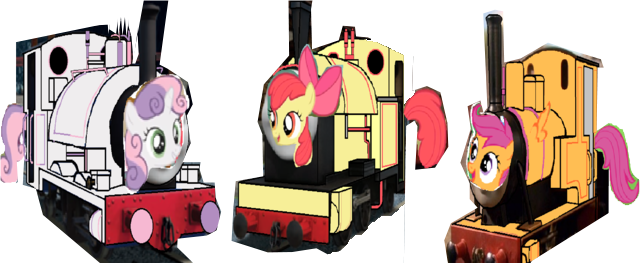 File:MLP Cutie Mark Crusaders as Thomas characters.png