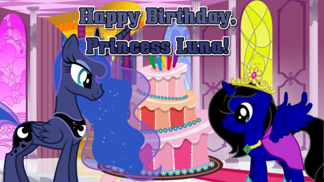 File:Happy Birthday, Princess Luna! Poster.png