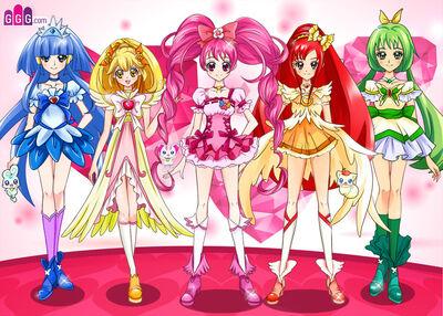 Pretty cure team 1 by rikkichan1-d7ptl2k