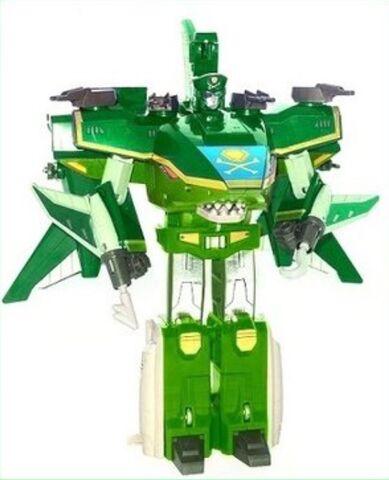 File:Green Sharkzord (Warrior mode).jpeg