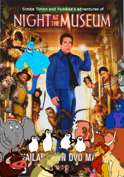 Simba Timon and Pumbaa's adventures of Night at the Museum Poster