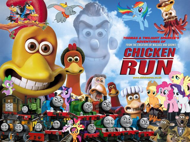 File:Thomas and Twilight Sparkle's Adventures of Chicken Run Poster.jpg