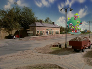 Ffarquhar Station with Golden Oaks Library