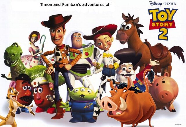 File:Timon and Pumbaa's adventures of Toy Story 2 Poster.jpg