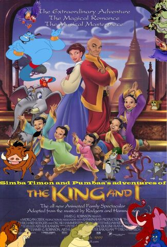 File:Simba Timon and Pumbaa's adventures of The King and I poster.jpg