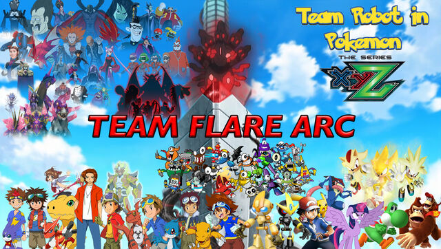 File:Team Robot in Pokemon XY&Z Team Flare Arc Poster (Fixed).jpg