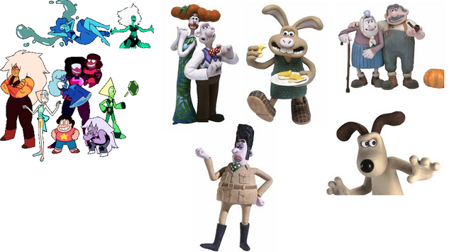 File:Steven universe crossover Wallace & Gromit.PNG