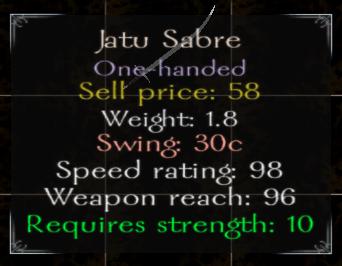 Jatu Sabre Stats