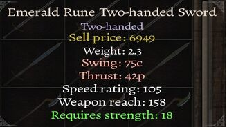 Emerald-Twohander-Stats