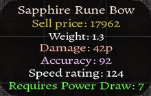 Sapphire Rune Bow Stats