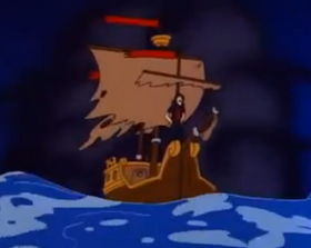 The Sea Hag's Ship in Popeye and Son
