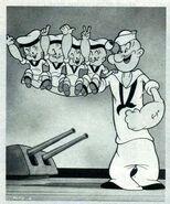 Popeye's nephews WWII