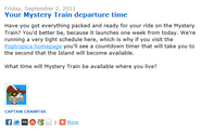 Your Mystery Train Departure Time