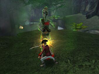 EliteSharpShooters battling a skeleton boss