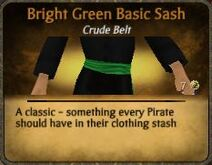 Bright Green Basic Sash