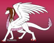 Christine as a dragon