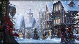 Pottermore background hogsmeade at christmas by xxtayce-d6wp60o