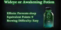 Wideye or Awakening Potion