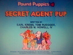 Title screen for Secret Agent Pup