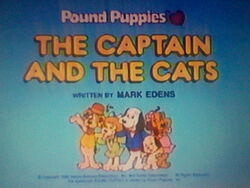 Title screen for The Captain and the Cats